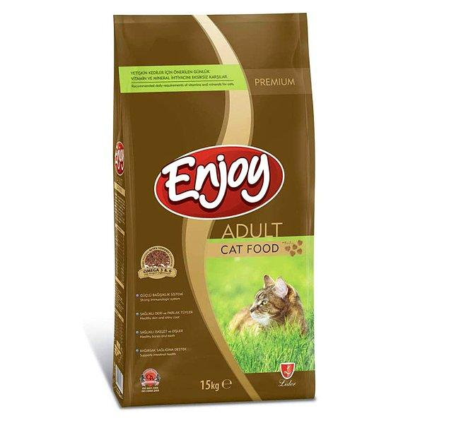6. Enjoy Yetişkin Kedi Maması Tavuklu 15 Kg