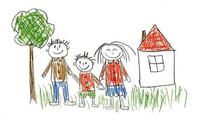 Örneğin; eğer ki çocuk kendisini anne ve babasının ortasında çiziyorsa, bu onun kendini güvende hissettiğini belirtir.