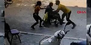 Tekerlekli Sandalyesi ile Yokuş Aşağı İnerken Duramayan Yaşlı Adamı Kurtaran Kahraman Genç