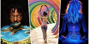 ''Bunlar Vücutsa Bizimkisi Ne'' Dedirtecek Vücut Boyama Sanatı ile Adeta Birer Tabloya Dönüşmüş Bedenler