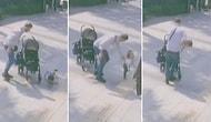 Bebek Arabasından Düşen Çocuğunu Tokatlayan Baba