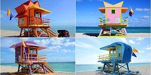 Sıra Dışı Tasarımlarıyla Miami Sahillerinin Sembolü Haline Gelen Büyüleyici Cankurtaran Kuleleri