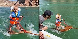 6 Aylık Bebeğin Su Kayağı Performansına Hayran Kalacaksınız