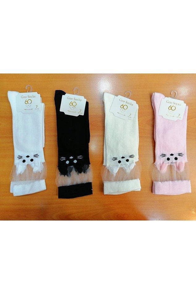 11. Diz üstü kedili çoraplar çooookkk sevimli!