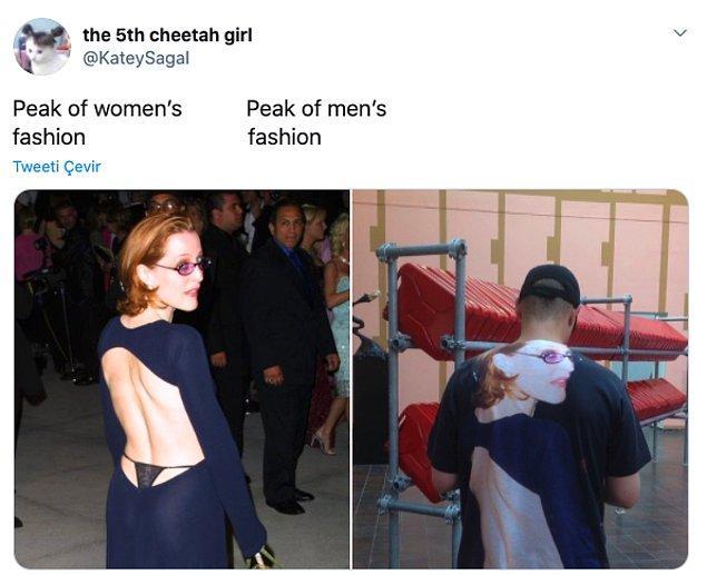 """9. """"Kadın modasının zirvesi vs erkek modasının zirvesi"""""""