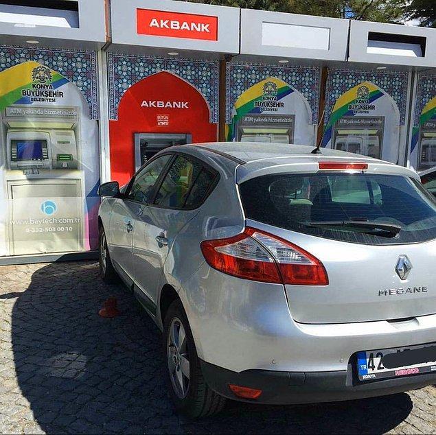 6. Arabadan çıkmadan ATM'den para çekmek isteyen bir şoför diyebilir miyiz?