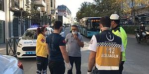 Karantinada Olması Gereken Otobüs Şoförü Sürücü Koltuğunda Yakalandı