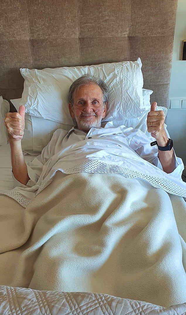 """9. """"11 gün hastanede kalıp, 12 kilo veren 78 yaşındaki hasta Kovid-19'u yendi."""""""