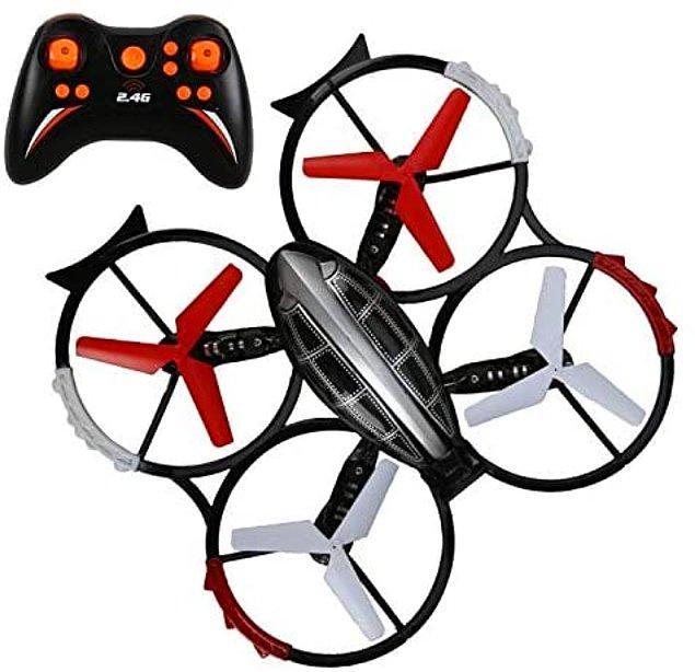 1. 360 derece dönebilir ve havada takla atabilir otomatik geri dönüş modu ve geri çağırma tuşuyla sizi heyecanlandıracak bir drona ne dersiniz?