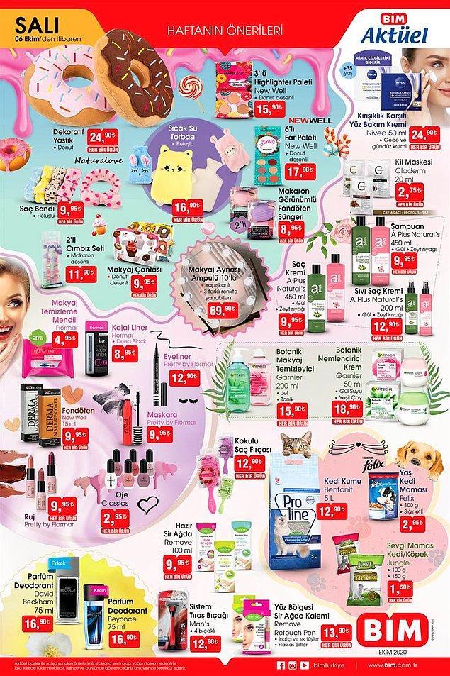 6 Ekim Salı'dan itibaren BİM'de kozmetik ürünlerinde indirimler olacak.