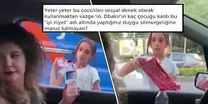 Diyarbakır'da Işıklarda Su Satan Küçük Kızdan 'Param Yok' Diyerek Su Alan, Karşılığında da Tablet Hediye Eden Kadının Tepki Çeken Sosyal Deneyi