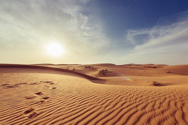 6. Çöllerde boğularak ölen insan sayısı susuzluktan ölen insan sayısından daha fazladır.