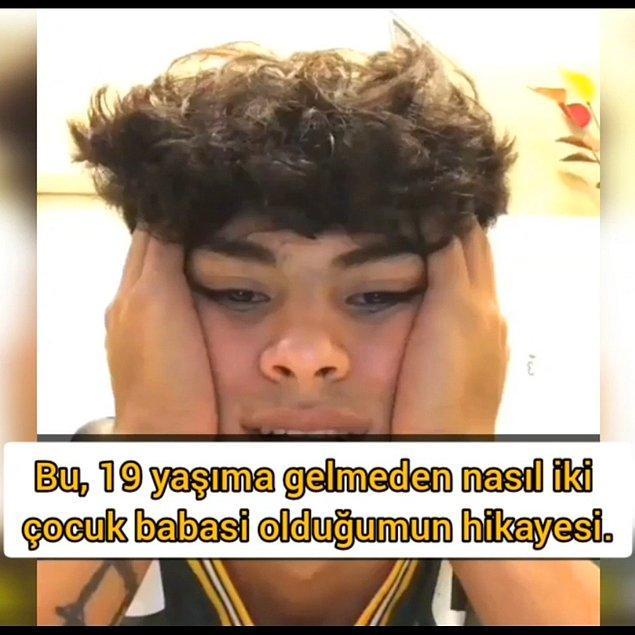 Lisede baba olan genç yaşadıklarını bir video ile anlatıyor.