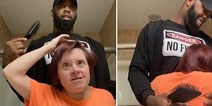 Down Sendromlu Kadının Saçlarını Yapan Kişinin Gözlerinizden Kalpler Fışkırtacak Enfes Görüntüleri