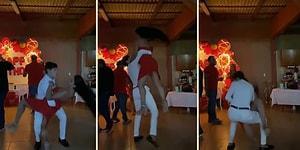 Doğum Günü Partisinde Dans Ettiği Kadını Kaldırıp Kaldırıp İndiren Erkek