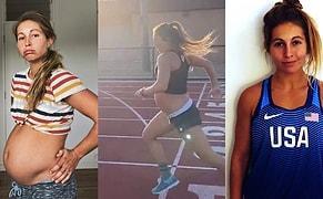 Günde 1.6 Kilometre Koşarak Spor Yapmamak İçin Bahanelere İhtiyacımızın Olmadığını Gösteren 9 Aylık Hamile Kadın