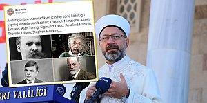 'Ahirete İnancı Olmayan İnsandan Her Türlü Kötülük Beklenir' Diyen Ali Erbaş'a Tepkiler