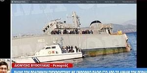 Yunanistan'da Donanma ve Konteyner Gemileri Çarpıştı, Donanma Gemisi Battı!