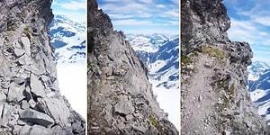 Uçurumun Kenarında Doğa Yürüyüşüne Çıkan Adrenalin Tutkununun Kamerasından İzlerken Diz Karıncalatan Görüntüler