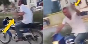 Antalya'da Elinde İçki Dolu Bardakla Motosiklet Kullanan Adam