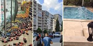 İzmir'de Yaşanan Felaket Anını ve Sonrasını Kaydeden TikTok Kullanıcılarından, Depremin Yıkımını Gözler Önüne Seren Paylaşımlar