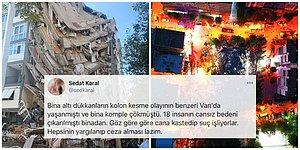 İzmir'deki Depremle İlgili Korkunç İddia: Bayraklı'da Yalnızca Bir Tarafı Çöken Binanın Kolonları Kesildi mi?