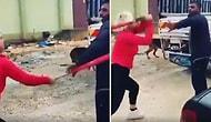 Sokak Hayvanlarının Mama Kaplarını Aldığı İçin Hurdacıyı Beyzbol Sopasıyla Döven Kadın