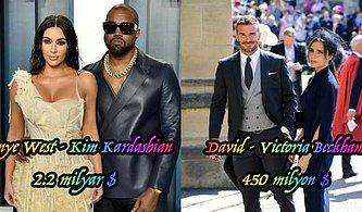 Biraz Çenemizi Yoralım! Her Geçen Gün Servetlerine Servet Katan Dünyanın En Zengin 19 Ünlü Çifti
