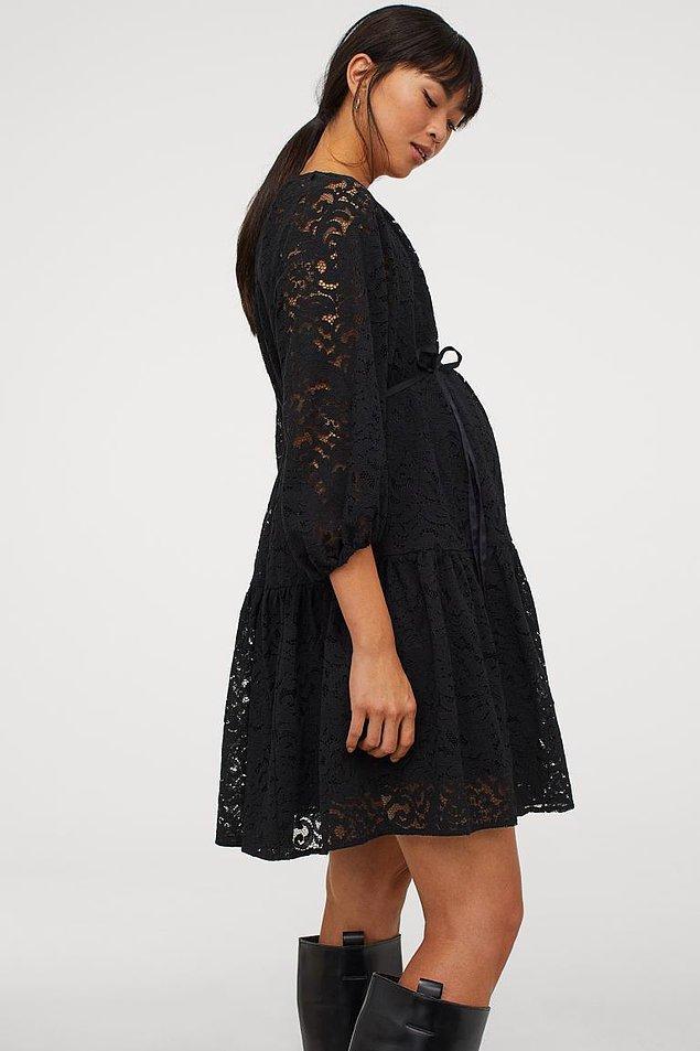12. Dantel elbise harika değil mi sizce de? H&M marka elbisenin fiyatı 249 TL.
