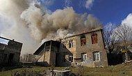 Yenilginin Ardından Bölgeyi Terk Etmeye Başlayan Ermeniler Evlerini Ateşe Veriyor