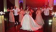 Düğünde Mahsun Kırmızıgül'ün 'Dinle' Şarkısı ile Harika Bir Koreografi Gerçekleştiren Gelin ve Arkadaşları