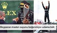 Formula 1 Şampiyonu Lewis Hamilton'a Kutlama Sırasında Şampanya Yerine Gazoz Verilmesi Tepkilerin Odağında