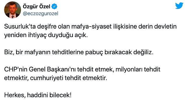 """Kılıçdaroğlu'na yönelik tehdit ve hakarete CHP'lilerden sert tepki geldi: """"Devlet çökerse çeteler konuşur"""""""