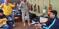 Kosova'da ABD'li Askere 'Atım Araptır' ile Dans Ettiren Türk Askeri