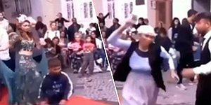 Düğünde Dans Pistine Giren Çocuğu Terlik Atarak Uzaklaştıran Kadın