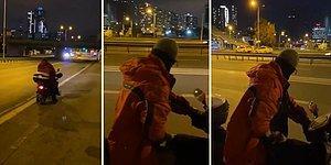 Bu Sapık Aramızda Dolaşıyor! Laf Attığı Kadınlara Bakarak Motosikletinin Üzerinde Mastürbasyon Yapan Sapığın İğrenç Görüntüleri