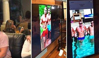 Telefonun Televizyona Bağlı Olduğunu Unutup Arkadaşının Sevgilisi ile Otelde Buluşma Konuşması Yaparken Yakalanan Kadın