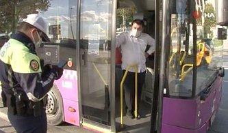 İstanbul Beşiktaş'ta Koronavirüslü Otobüs Şoförü Direksiyon Başında Yakalandı