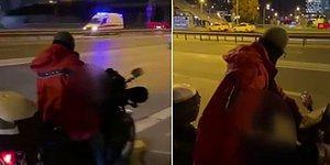 Kadınlara Laf Atıp Motosiklet Üzerinde Mastürbasyon Yapan Sapık Yakalandı
