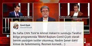 CNN Türk'te Eski Meclis Başkanı Cemil Çiçek Olduğu Düşünülerek Başka Birinin Tweet'leri Okundu