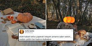Piknik Yapmaya Gittiği Ormana Bal Kabağı Götürecek Kadar Hayatı Seven Genç Goygoycuların Diline Düştü