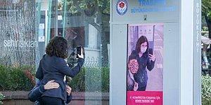 Trabzon Büyükşehir Belediyesi'nden Maske Takmayanların Yüzünü 'Koronavirüse Dönüştüren' Ekran