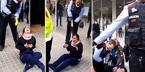 Koronavirüs Protokolleri Nedeniyle Kliniğe Alınmayan Kadın Güvenlik ile Tartıştı, Olay Yerine Gelen Polis Kadını Şok Tabancası Kullanarak Gözaltına Aldı