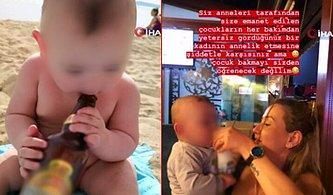 Bu Kadarı da Olmaz Demeyin: 1,5 Yaşındaki Bebeğe Alkol İçirip Fotoğraflarını Paylaştılar