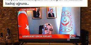 Bakan Zehra Selçuk'un, Erdoğan'ın Fotoğrafını Göstermek İçin Ayarladığı Garip Kadraj Sosyal Medyanın Gündeminde