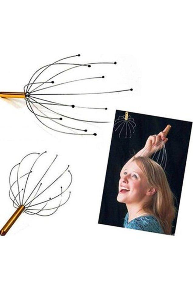 3. Kafa masajı için oldukça pratik bir alet, ayrıca saç kaşıma için de değerlendirilebilir :)