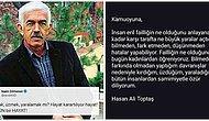 """Hasan Ali Toptaş'ın Kadınları Taciz Ettiğini İtiraf Etmesi ve """"Eril Faillik"""" Kavramıyla Özür Dilemesi Sosyal Medyanın Gündeminde"""