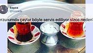 Erzurumluların Çayı Ters Bardakla Servis Etme Adeti Twitter'da Kafaları Karıştırdı