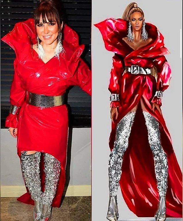 15. Selen Görgüzel, sahne kıyafeti olarak Beyoncé için tasarlanan kostümlerin aynısını birebir diktirmişti.
