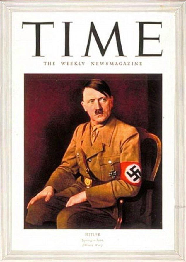8. Hitler, 1938 yılında ''Yılın Adamı'' seçilerek Time dergisine kapak oldu.